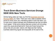 Track Down Business Services Orange NSW With New Tools