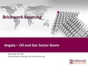 Angola – Oil and Gas Sector Boom