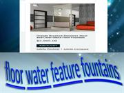 floor water feature fountains