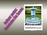 indoor water fountains for home