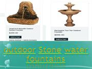 outdoor Stone water fountains