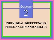Module 2 Individual Differences Approach Lecture (1)