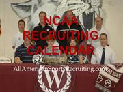 NCAA Recruiting Calendar