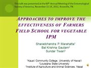 Farmers Field School for Vegetable Integrated Pest Management (IPM)