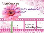 24 Internet Tools for Advanced Nursing Practice