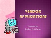 VENDOR APPLICATIONS