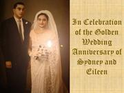 Golden Wedding Anniversary of Sydney and Eileen Jayasuriya