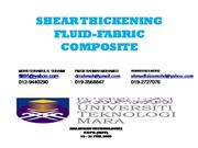 SHEAR THICKENING FLUID FABRIC COMPOSITE mte