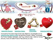 Valentine Gifts to India: Valentine Flowers, Valentine Cakes