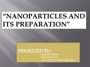 NANOPARTICLES AND ITS PREPARTION