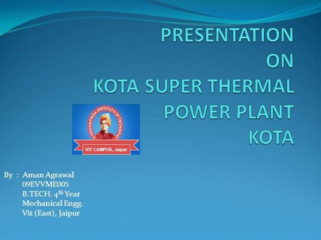 presentation of thermal power plant Presentation outline 1 coal fired  6 examples of power plant problems  caused by coal  videos\how a thermal power plant worksmp4.