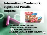 IP rights and Parallel Imports