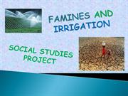 FAMINES AND IRRIGATION