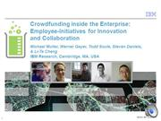 Crowdfunding inside the Enterprise