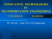 transportation engineering technologies