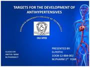 TARGETS FOR THE DEVELOPMENT OF ANTIHYPERTENSIVES