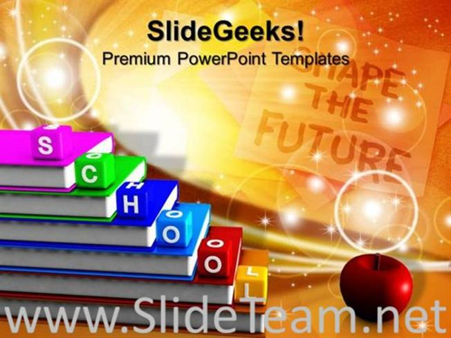 Alphabet Blocks School Education Powerpoint Theme Powerpoint Template