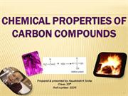 chemical properties of carbon compounds( classX)