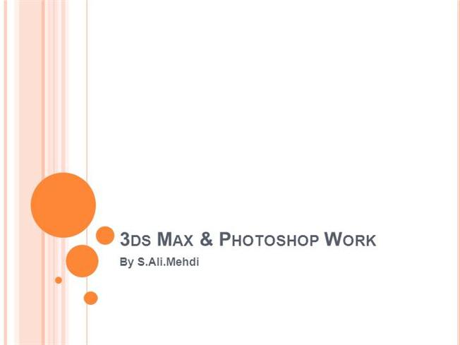 3Ds Max Work by S  authorSTREAM