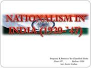 Nationalism in India (1920-`47)