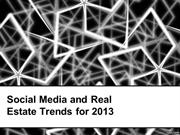 Social Media and Real Estate Trends for 2013