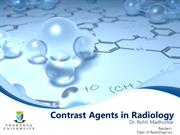Contrast Agents in Radiology & reaction's