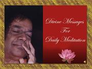 01 DIVINE MESSAGES FOR DAILY MEDITATION