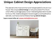 Unique Cabinet Design Appreciations - melodyhome.com