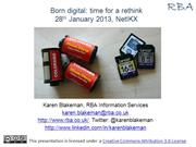 Born Digital: Time for a Rethink