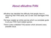 Apply for pan card online any where in India at eMudhra PAN