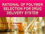 Rational for selection of polymer