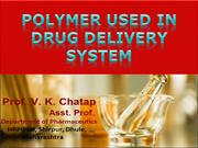 11polymers used in drug delivery systems