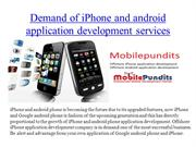 demand offshore iphone and android application development services