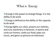 Non con. Energy sources
