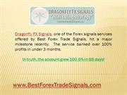 Best Forex Trade Signals Dragonfly FX Gains 100.6% In 88 Days
