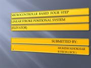 MICROCONTROLLER   BASED   FOUR STEP LINEAR STROKE POSITIONAL SYSTEM