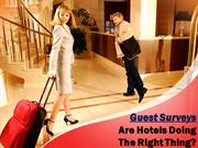 Guest Surveys And The Hotel Industry