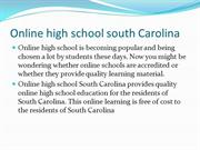 online high school south carolina