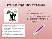 Practice Paper Jan 2010  Review Lesson