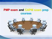 PMP exam and CAPM exam prep courses