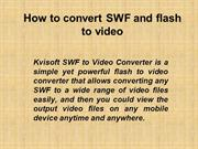 How to convert SWF and flash to video