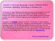 Growth in Food and Beverage Industry Reflects Shift in Consumer Spendi