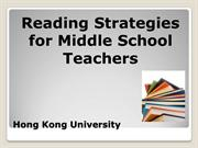 Reading Strategies for Reading Teachers