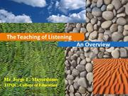 Teaching of Listening ppt