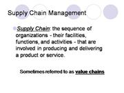 Supply Chain Mgt.