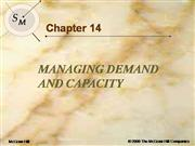 managing demand & capacity 2