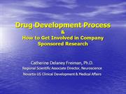 Drug Development Process UH-Cleveland, 6.23.06
