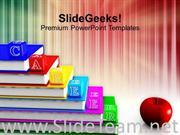 ALPHABET BLOCKS WITH BOOKS POWERPOINT TEMPLATE