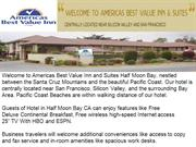 Americas Best value Inn Half Moon Bay California