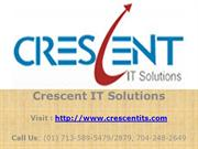 Crystal Reports Online Training and Placement @ Crescent IT Solutions